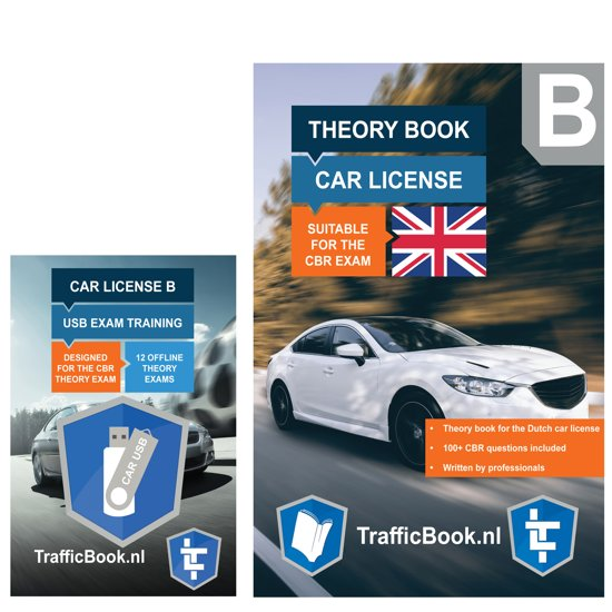 Driving Licence Car Theory Book (English)  - Dutch Traffic with Practise USB - 12 theory exams