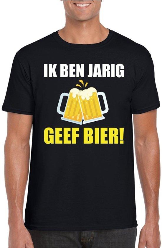 Bol Com Verjaardag T Shirt Zwart Heren Ik Ben Jarig Geef Bier S