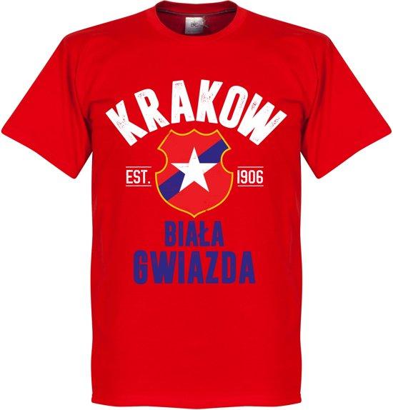 Wisla Krakow Established T-Shirt - Rood - XXL