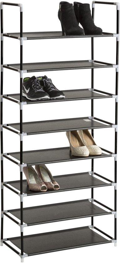 TecTake - metalen schoenenrek, 8 niveaus, max. 24 paar schoenen - 402105
