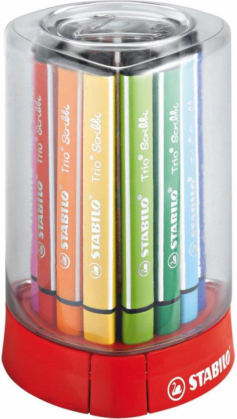 STABILO Trio Scribbi Viltstiften - box met 12 kleuren