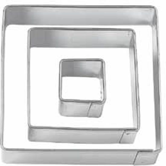 Set van 3 metalen uitstekers - vierkant - Wilton