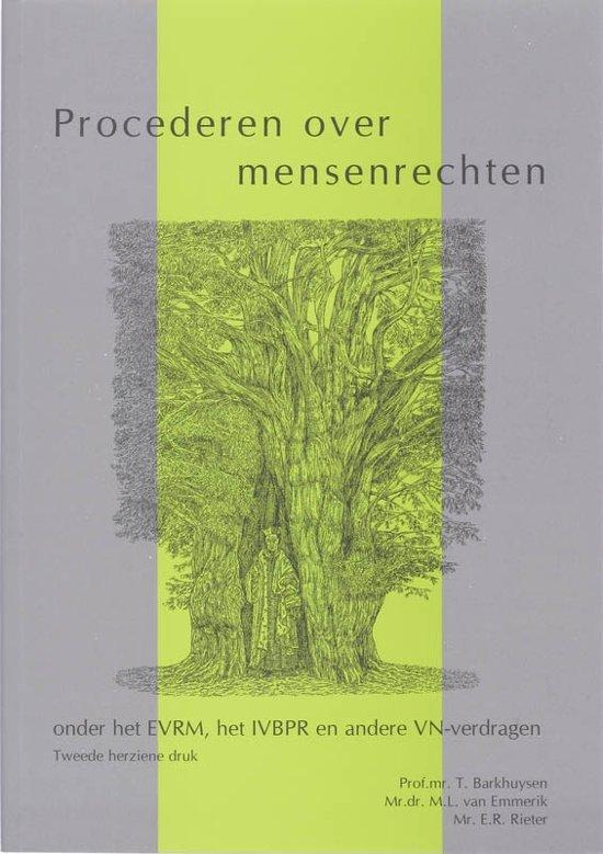 Boek cover Procederen over mensenrechten van  (Paperback)