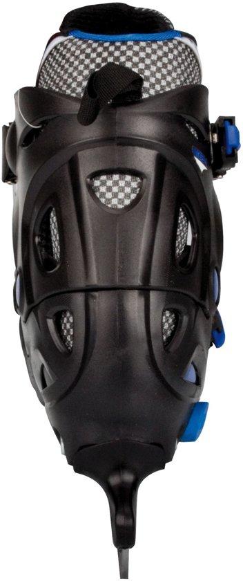 Nijdam 3024 Junior IJshockeyschaats - Verstelbaar - Hardboot - Zwart/Blauw - Maat 30-33