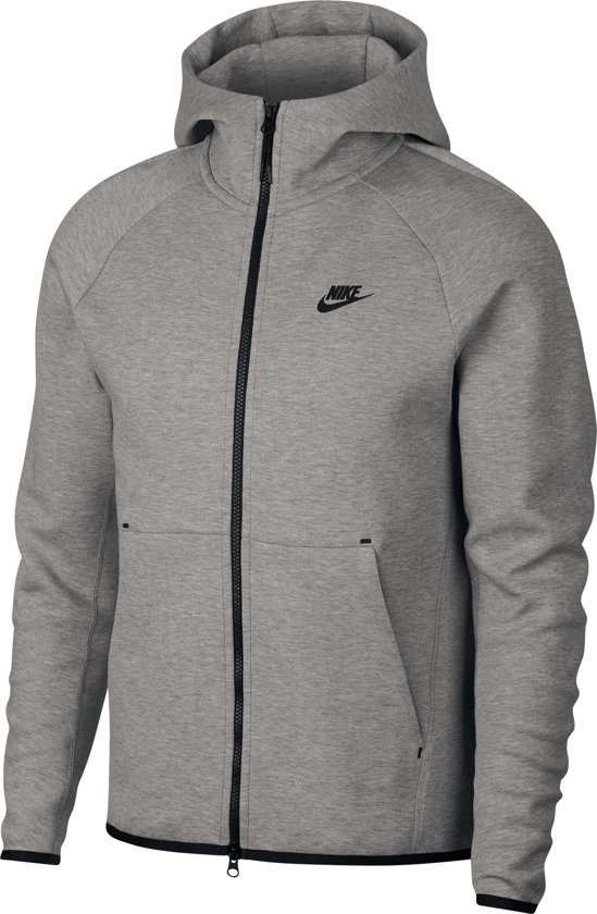 Nike Nsw Tech Fleece Hoodie Fz Vest Heren - Dk Grey Heather/Black/(Black) - Maat S