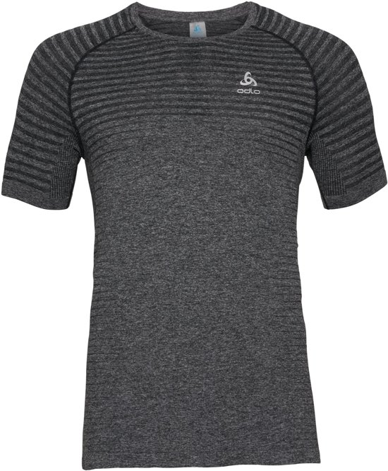 Odlo T-Shirt S/S Crew Neck Seamless Element Heren Sportshirt - Grey Melange - Maat L
