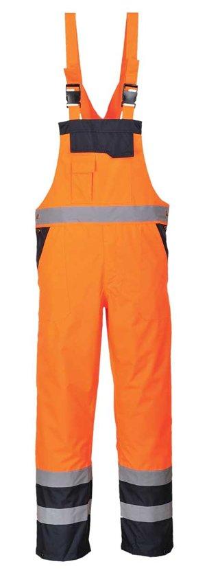Amerikaanse overall Gevoerd Oranje/Blauw Portwest S489 - Maat 2XL