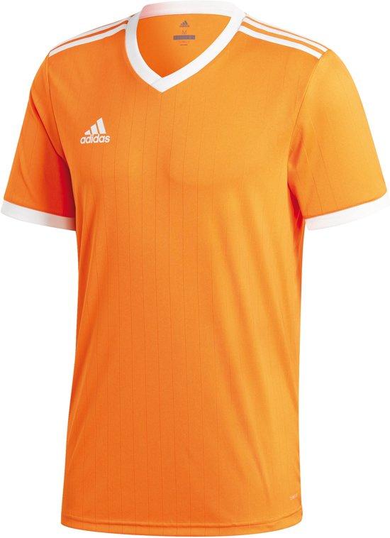 adidas Tabela 18 SS Jersey Teamshirt Heren Sportshirt Maat L Mannen oranjewit