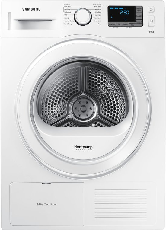 Samsung DV80F5E5HGW/EN - Warmtepompdroger