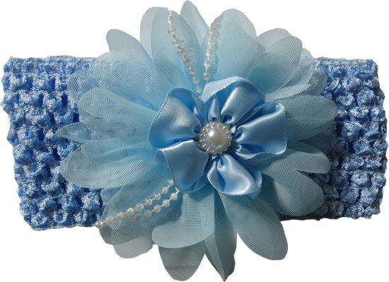 Blauwe Baby Accessoires.Jessidress Baby Haarband Meisjes Hoofdband Grote Haarbloemen Accessoires Blauw