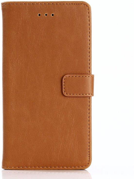 Shop4 - Huawei P8 Lite (2017) Hoesje - Wallet Case Retro Cognac in Putten