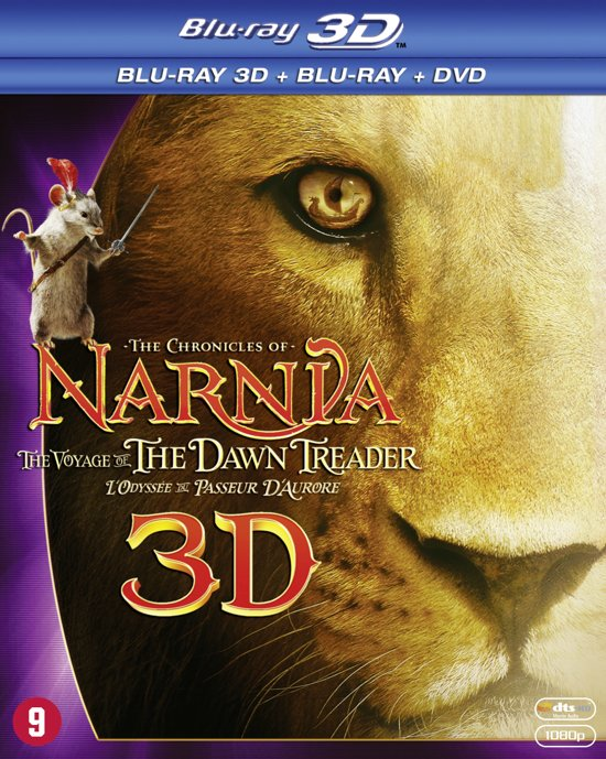 DVD cover van The Chronicles Of Narnia: The Voyage Of The Dawn Treader (3D Blu-ray)