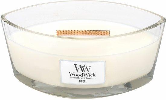 WoodWick® Heartwick Ellipse Candle Linen