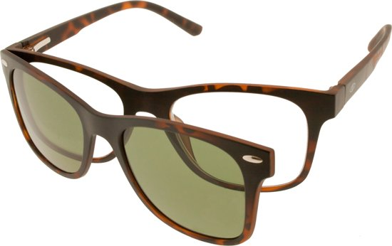 Icon Eyewear TTB310 Premium Clip-On (zonne)Leesbril +1.00 - Tortoise