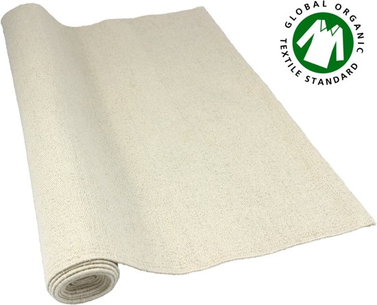 Yoga mat travel air  - anti-slip -100% organisch / bio katoen, hand geweven 193cm x 70cm 3mm