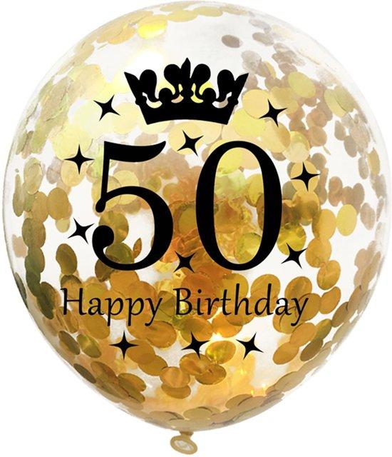 Bol Com 5 Confetti Ballonnen 50 Jaar Verjaardag Jdbos Handig En