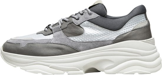Selected Homme Chunky Heren Sneakers - Grey - Maat 42