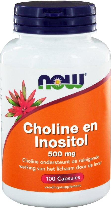 Now Choline en Inositol 500 mg - 100 Capsules