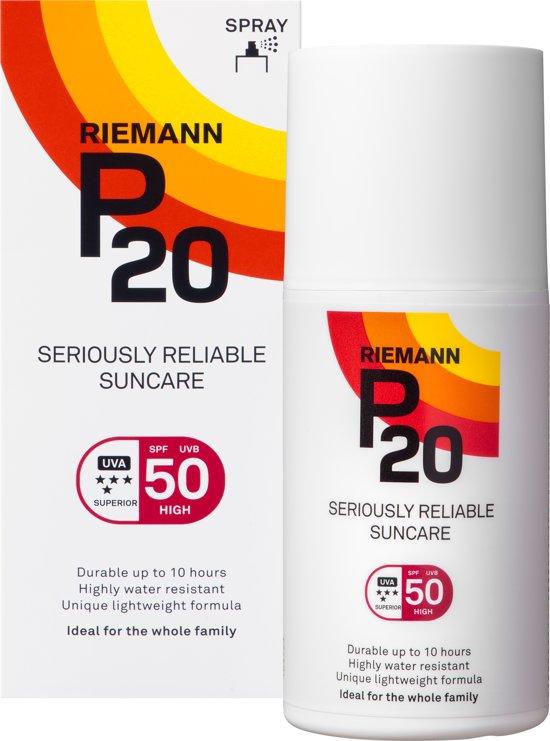P20 - SPF 50 - 200 ml - Zonnebrandcrème - Spray