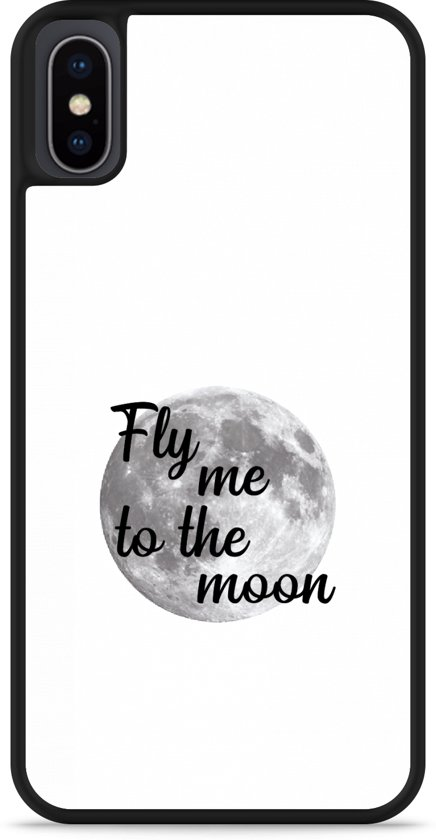 iPhone Xs Hardcase hoesje Fly me to the Moon