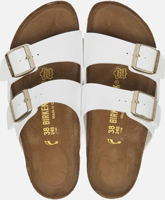 Birkenstock Arizona White Slippers - Dames  - Maat 43