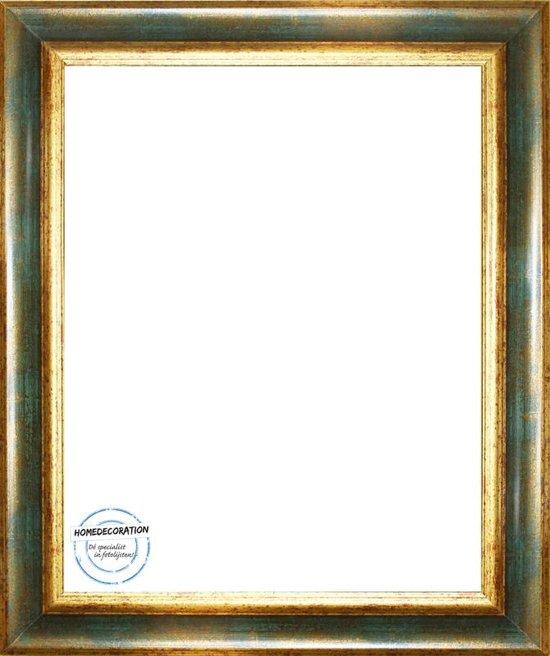 Homedecoration Bronckhorst – Massief houten fotolijst – 2 mm dik kunstglas – Fotomaat – 40x80 cm  – Goud groen