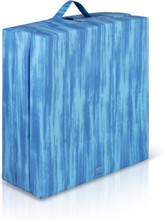 Inklapbaar vouwmatras  - opvouwbare matras 65x190cm blauw