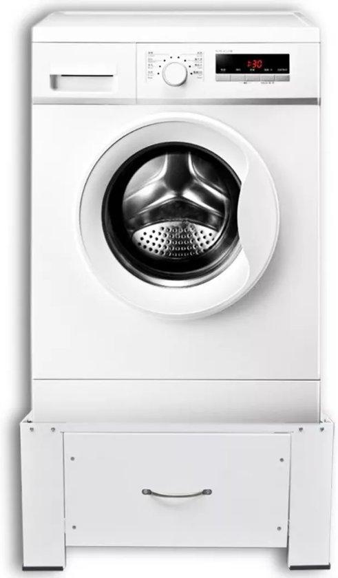 Voetstuk Wasmachine Wasmachine Verhoger Wasmachine Kast Met Lade Wit