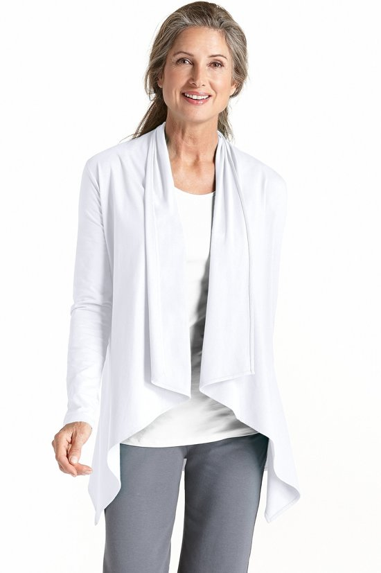 Coolibar UV vest Dames - Wit - Maat 40