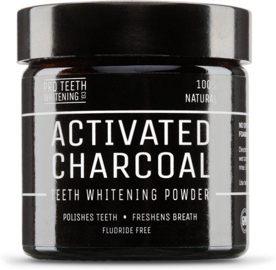 De originele Pro Teeth Whitening Activated Charcoal - Tandenbleker - 100% natuurlijk poeder voor gladde, witte tanden - 60g