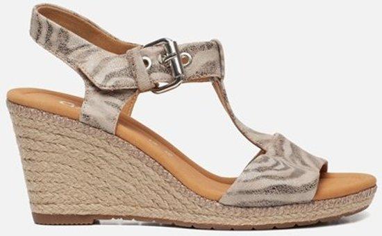Gabor Comfort sandalen met sleehak beige Maat 43.5