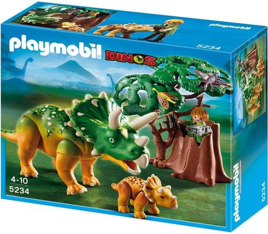 Playmobil triceratops met jong 5234 playmobil for Playmobil dinosaurios