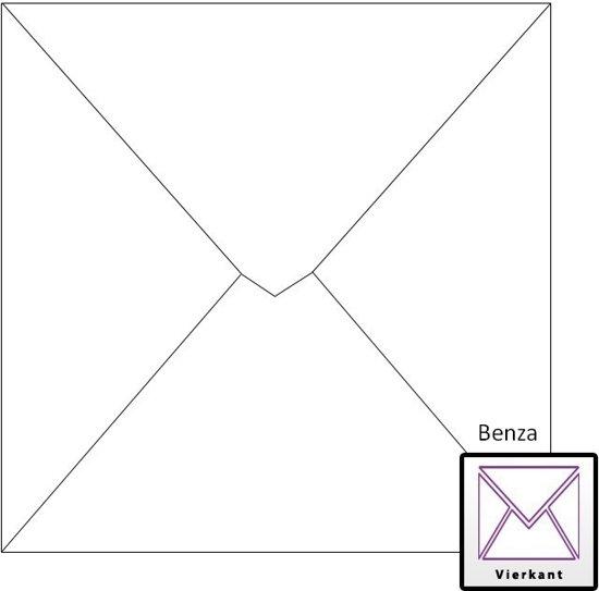 Benza Wenskaart Enveloppen 14 x 14 cm Wit (120 stuks)