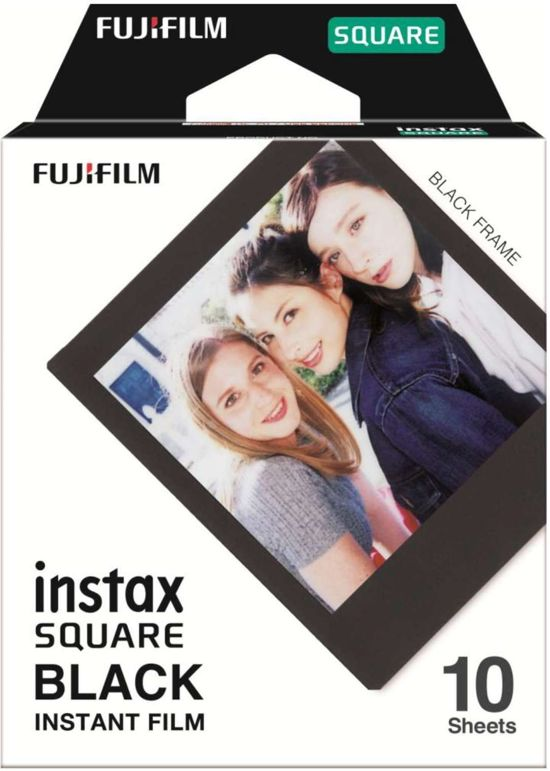 Fujifilm Instax Square Film  - Zwart kader - 10 stuks