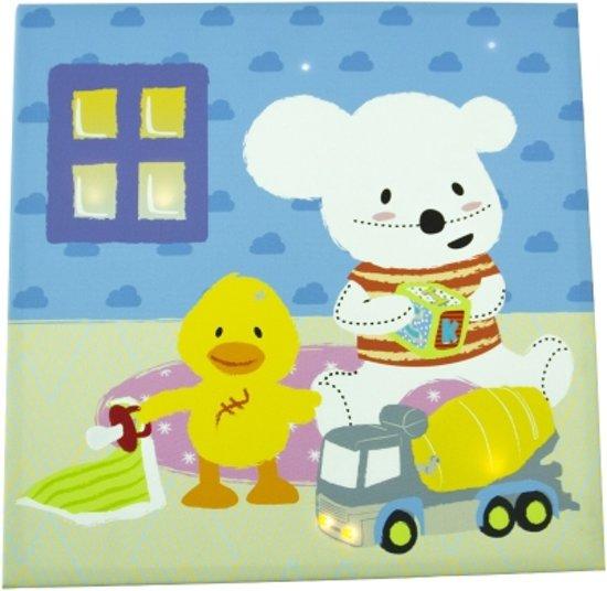 imaginarium night gallery eend en kiconico schilderij babykamer met led verlichting