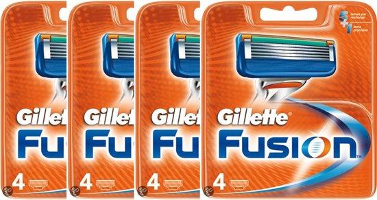 Gillette Fusion - 4 pakjes a 4 stuks - Scheermesjes