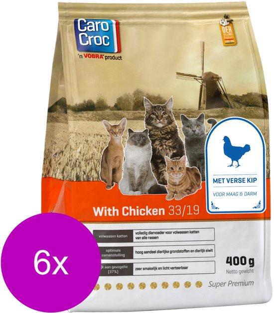 Carocroc With Chicken - Kattenvoer - 6 x 400 g