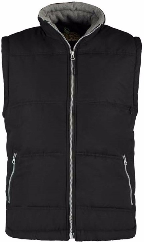 Basic bodywarmer zwart voor heren - winddichte mouwloze sport vesten XL (42/54)