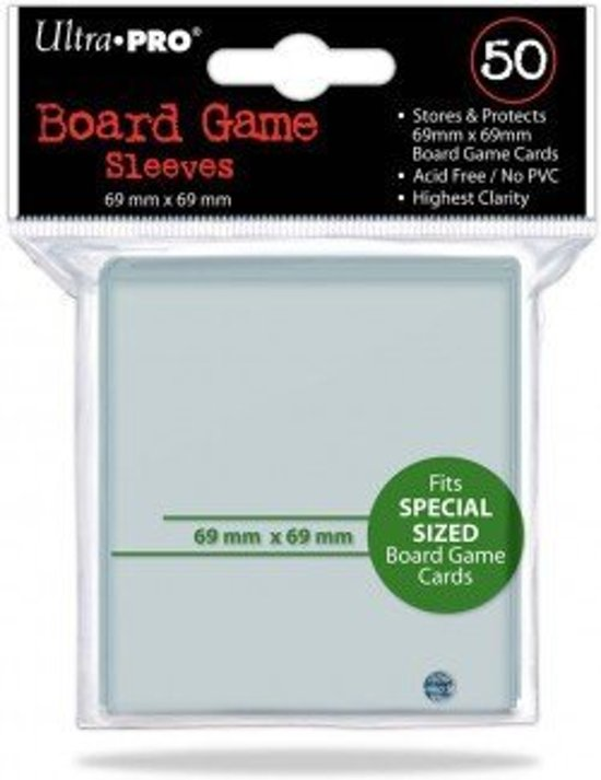 Afbeelding van het spel Sleeves Board Game 69X69Mm 50 D10