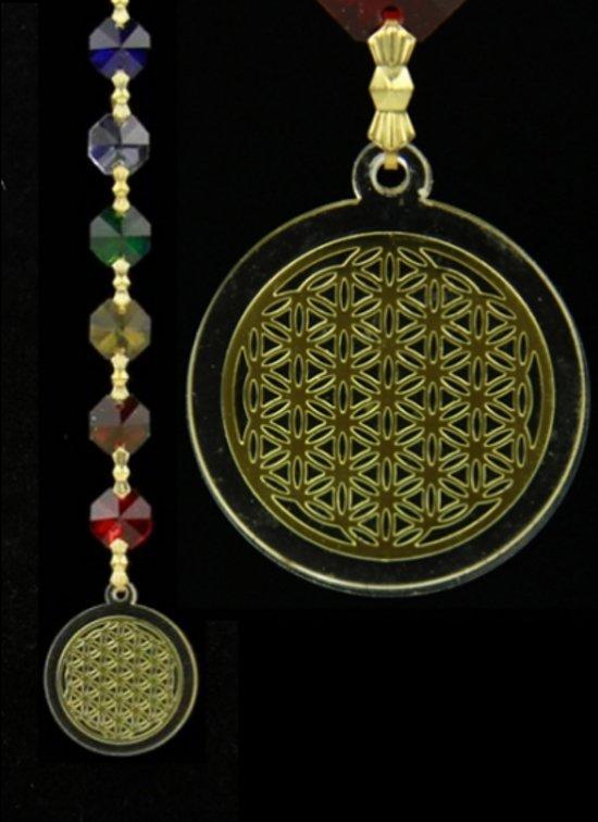 Feng shui bloem des levens hanger goudkleurig for Feng shui kleuren