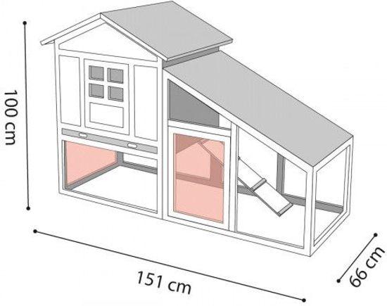 Petstar Konijnenhok ann Cottage
