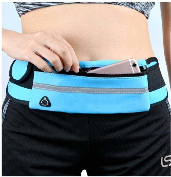 Running belt - Hardloop belt - Hardloop riem -Licht Blauw