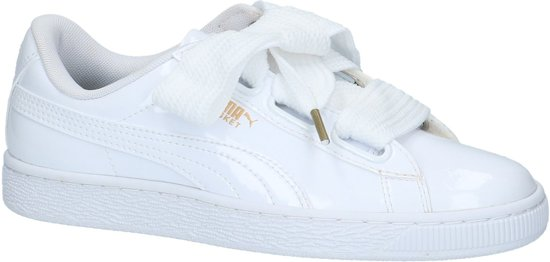 Puma Dames Sneakers Basket Heart Patent - Wit - Maat 41