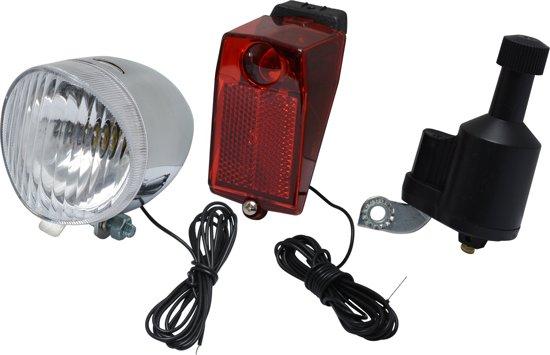 dresco verlichtingsset fiets koplamp achterlamp dynamo