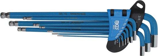 Inbusset – Inbussleutel set – Stiftsleutelset - Extra Lang (engels/ inch/ SAE) - BGS 35101