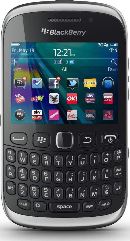 BlackBerry Curve 9320 - Zwart - Hi prepaid telefoon