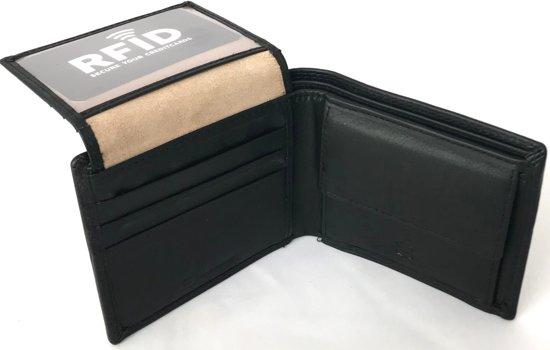 2061d00c0e4 DD-exclusive luxe leren Heren Portemonnee - compact model en veel pasruimte  - leer zwart