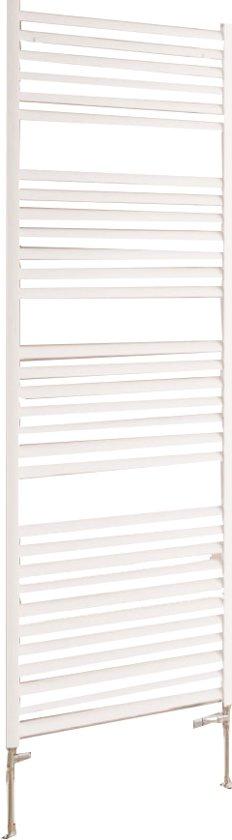 Design radiator verticaal handdoekradiator aluminium mat wit 60x60cm319 watt- Eastbrook Velor