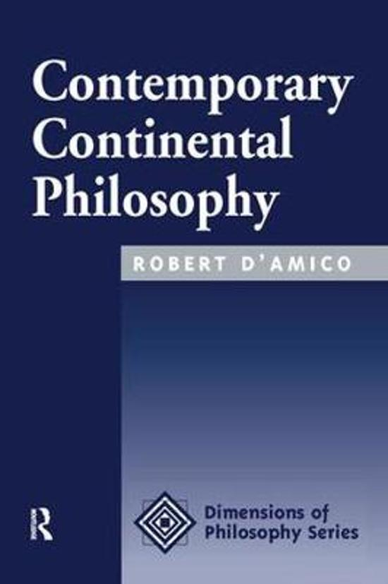 Contemporary Continental Philosophy