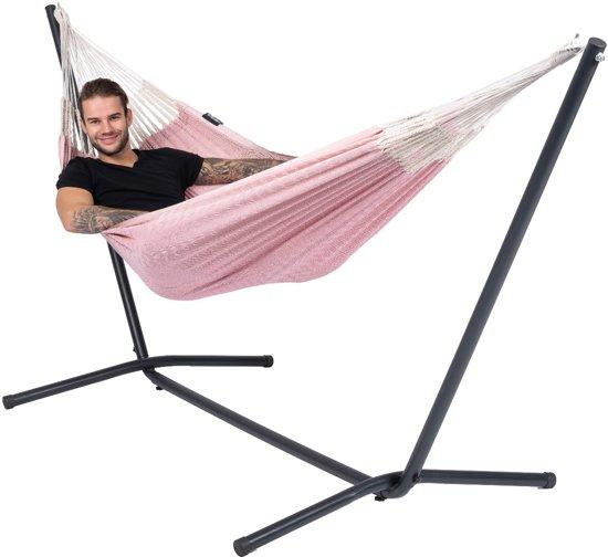 Hangmat met Standaard Eénpersoons 'Easy & Natural' Pink